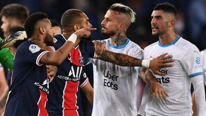 Ligue 1 match between Paris Saint-Germain and Marseille ended in mass brawl