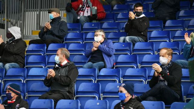The return of supporters was trialed during the Scottish Premiership match between Ross County and Celtic