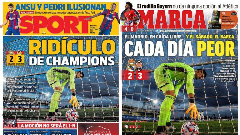 Los periódicos del Real Madrid para Ben
