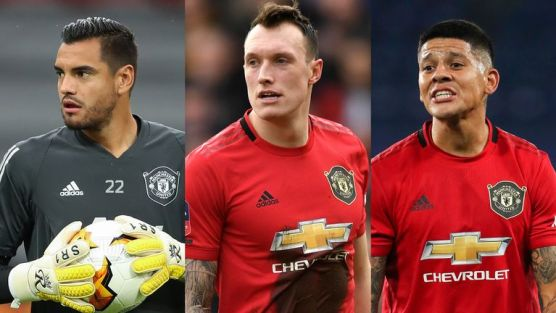 Sergio Romero, Phil Jones and Marcos Rojo have been left out of Manchester United's Champions League squad
