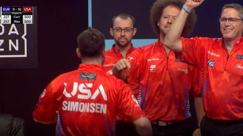 Team USA's Anthony Simonsen bowled a perfect 300 game, only the eighth in Weber Cup history and the first individual one since 2013