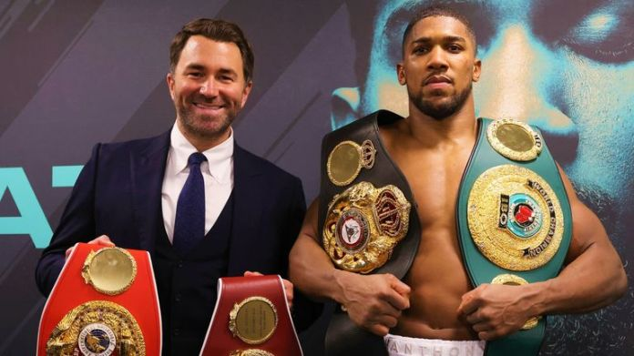 Eddie Hearn expects Joshua vs Fury to be agreed soon