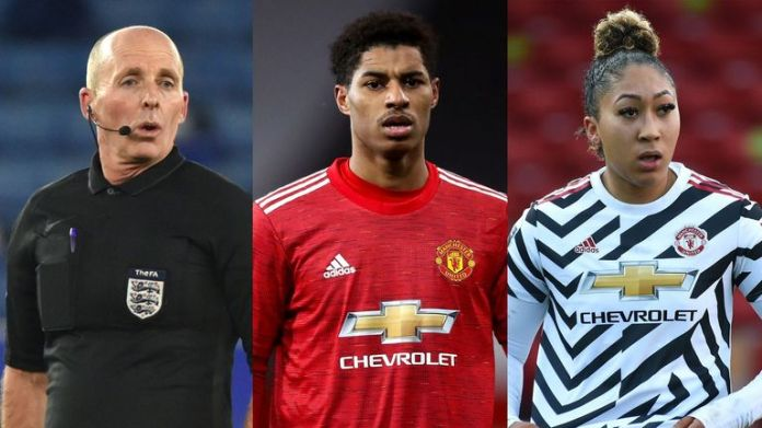 Mike Dean, Marcus Rashford and Lauren James have all been recent victims of abuse on social media