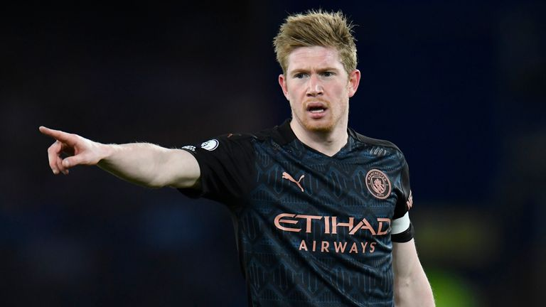 Kevin de Bruyne returned from injury to Everton on Wednesday