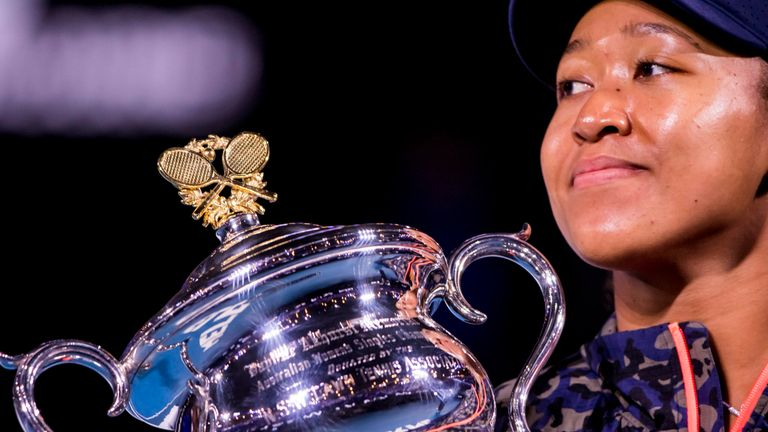 Osaka won her second Australian Open title earlier this year (Photo by Jason Heidrich/Icon Sportswire) (Icon Sportswire via AP Images)