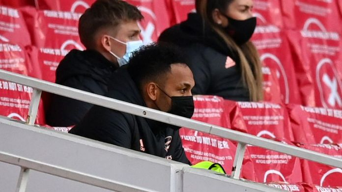 Aubameyang was an unused replacement in the 2-1 loss to Tottenham