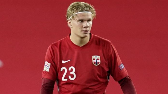 Norwegian and Dortmund striker Erling Haaland is a transfer target for top European clubs.