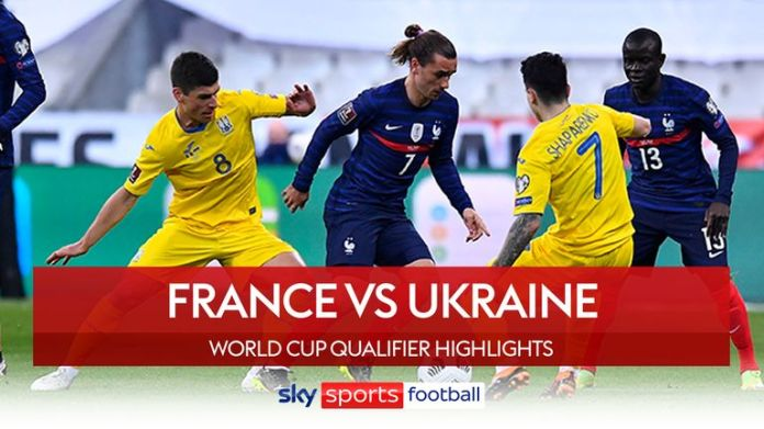 France face Ukraine in World Cup qualifier