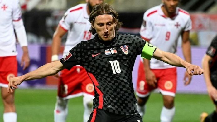 Luka Modric added Croatia's second place from the penalty spot