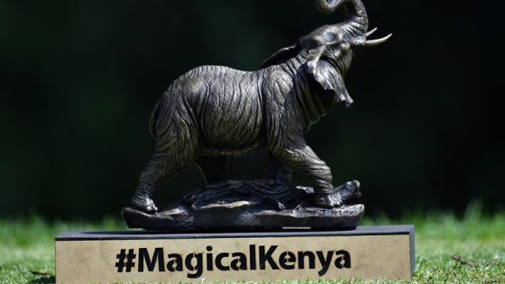 The Kenya Magical Open has been played without a world food TV broadcast so far this week