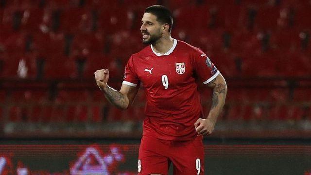 Aleksandar Mitrovic scored twice for Serbia