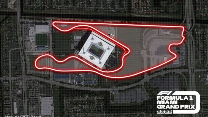 F1's planned circuit layout for the Miami Grand Prix