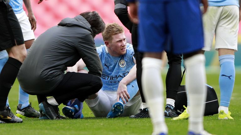Kevin De Bruyne could be a doubt for the Carabao Cup final next Sunday