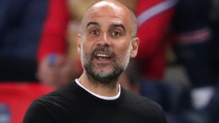 Manchester City boss Pep Guardiola (AP)