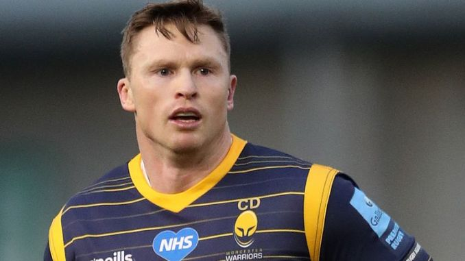 Chris Ashton was sent off during the second half of Worcester's 62-14 defeat