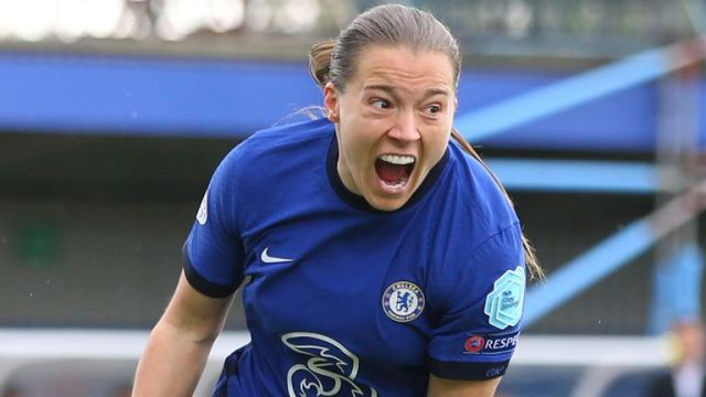 Fran Kirby scored Chelsea's first and fourth goals against Bayern Munich