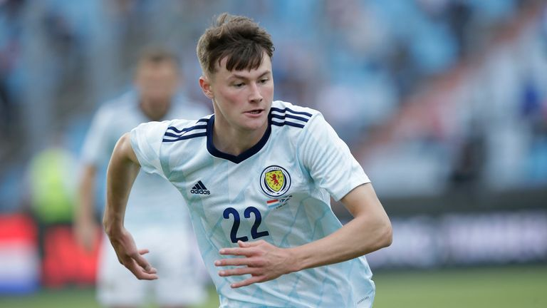 SNS - Nathan Patterson in action on his Scotland debut during a friendly match between Luxembourg and Scotland at the Stade Josy Barthel on June 06, 2021