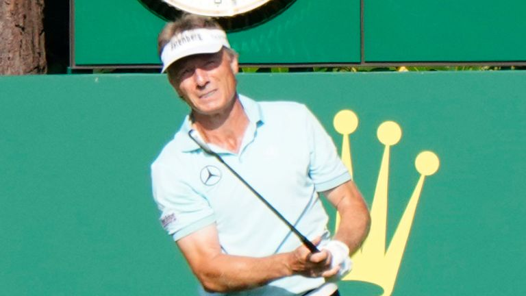Bernhard Langer is one off the lead chasing his fifth title