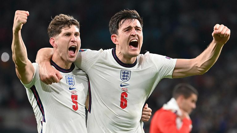 John Stones and Harry Maguire, England