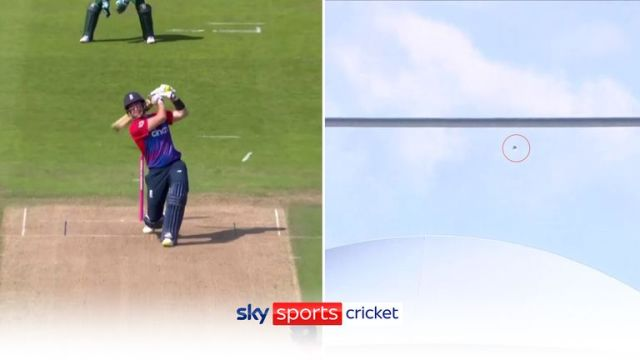 England batsman Liam Livingstone hit a six out of Emerald Headingley during a T20 against Pakistan this summer