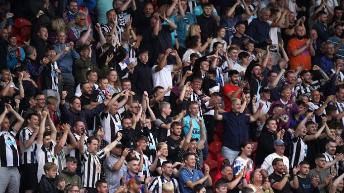 Newcastle fans travelled in numbers to Doncaster's Keepmoat Stadium to watch the Magpies in the flesh