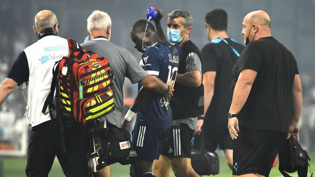 Samuel Kalu: Bordeaux striker collapses during Ligue 1 match against  Marseille before briefly returning to the pitch   Football News   Sky Sports