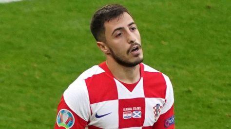 Josip Juranovic in action for Croatia
