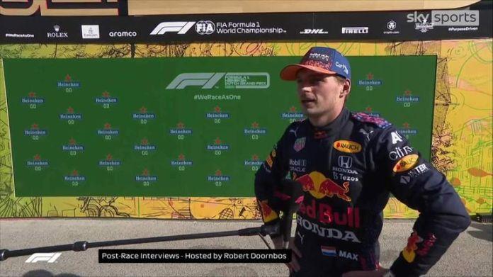 Max Verstappen, Lewis Hamilton and Valtteri Bottas took the top three podium spots in the Netherlands Grand Prix.
