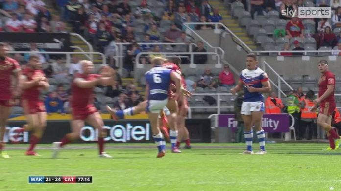 This drop goal from Jacob Miller snatched a thrilling win for Wakefield Trinity over Catalans Dragons at the 2016 Magic Weekend