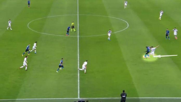 Against Atalanta, centre-back Berat Djimsiti was given licence to track Romelu Lukaku's deep runs and stay tight to the forward