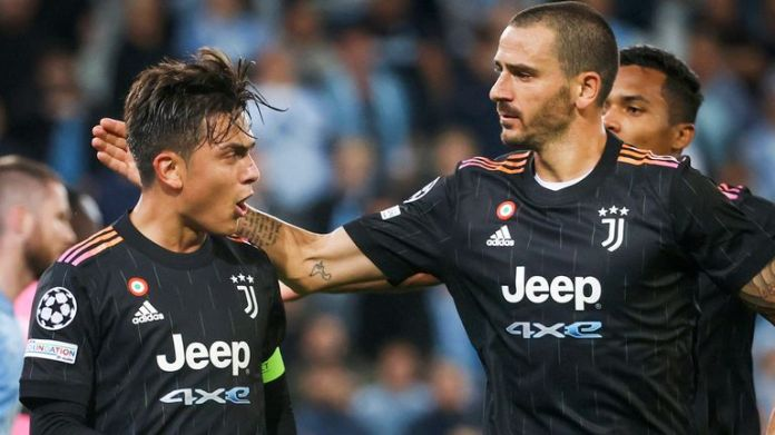 Juventus' Paulo Dybala scored from the penalty spot against Malmo
