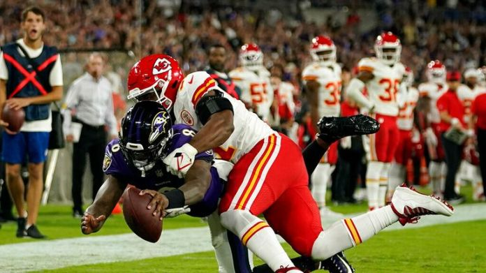 Watch all of Baltimore Ravens quarterback Lamar Jackson's best throws and runs from his 3-touchdown game in a home win against the Kansas City Chiefs.