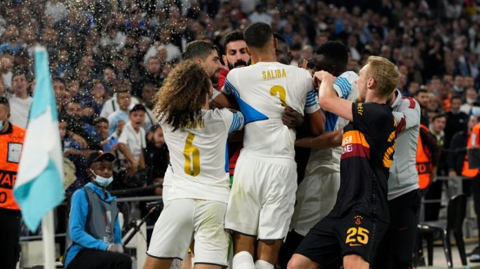 Tempers flare at the Stade Velodrome