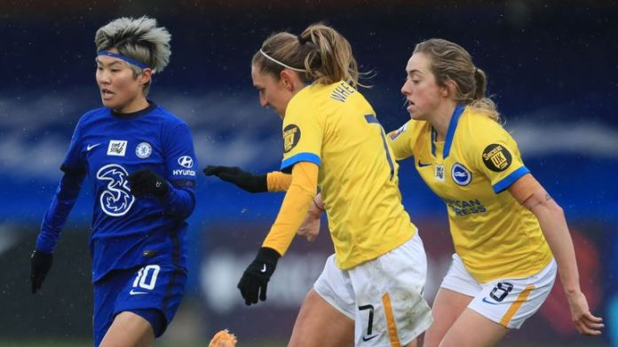 Megan Connolly (right) pointed to the strength of Chelsea's bench