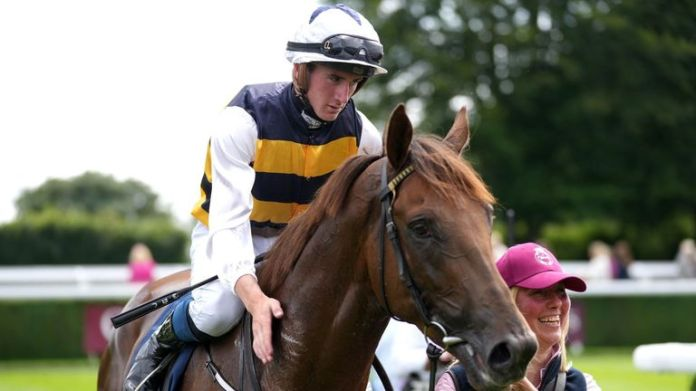Ottoman Emperor gets a well-earned pat down the neck from jockey Ben Coen after victory at Goodwood
