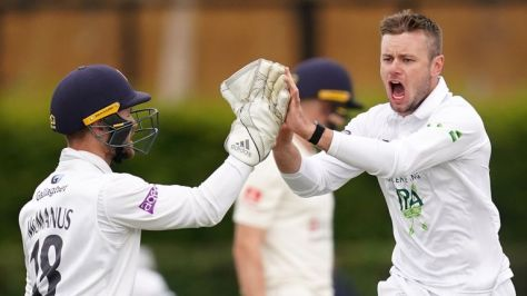 Mason Crane took 5-41 as Hampshire came within one wicket of winning the County Championship