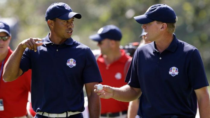 Woods and Stricker have been Ryder Cup team-mates in the past