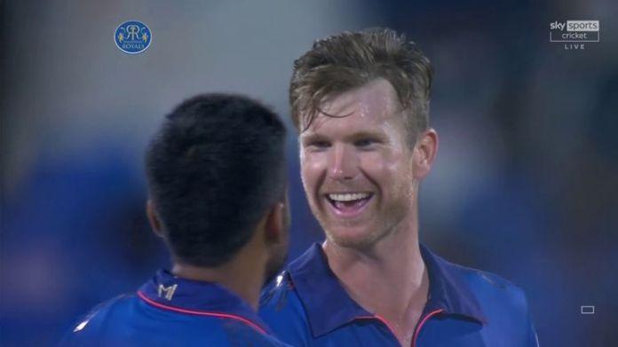 Jimmy Neesham took 3-12 as Mumbai ran through Rajasthan's batting line-up in Sharjah