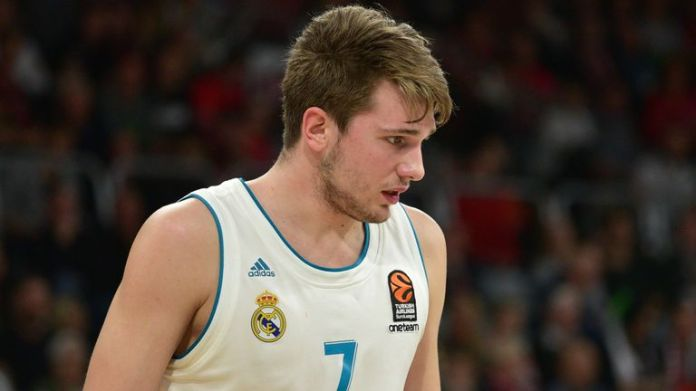 Luka Doncic playing for Real Madrid in 2017