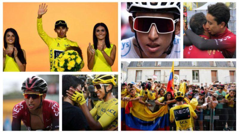 UCI. El ciclista colombiano Egan Bernal, en el Top 5 del escalafón