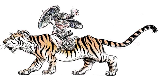 cabalgando tigre
