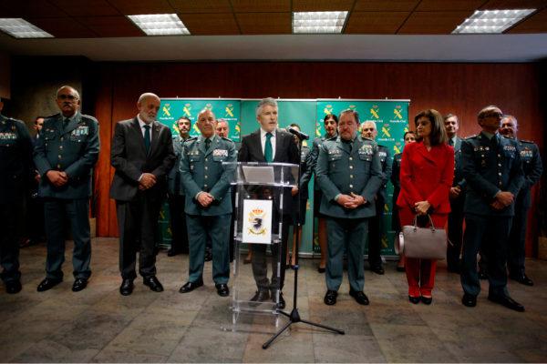 The interior minister in functions. Fernando Grande Marlaska. Visit ...