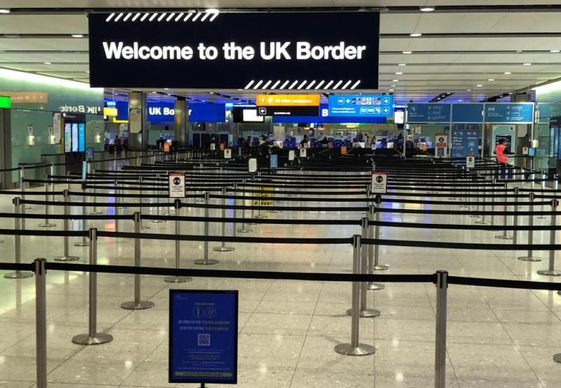 Una de las salas del aeropuerto de Heathrow.