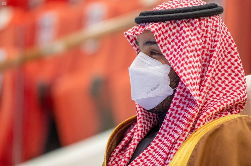 Mohammed  bin Salman, príncipe heredero de Arabia Saudí, en un evento deportivo en Riad.