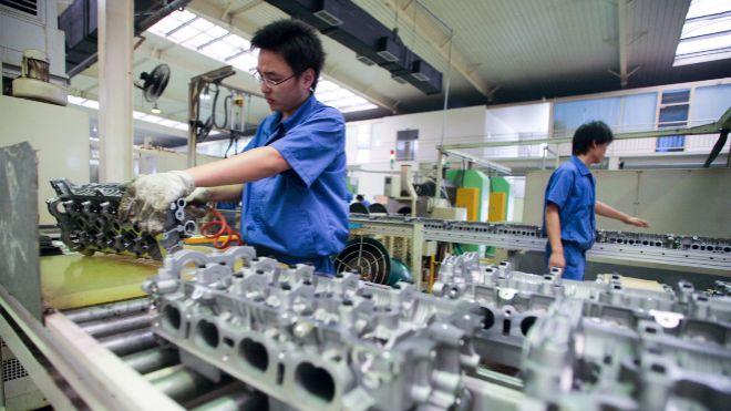 La producción industrial china sube un 4,4% en agosto, su ...