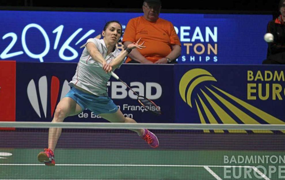 Beatriz Corrales en el Campeonatos de Europa de Bádminton