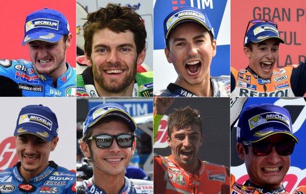 Miller, Crutchlow, Lorenzo, Márquez, Viñales, Rossi, Iannone y...