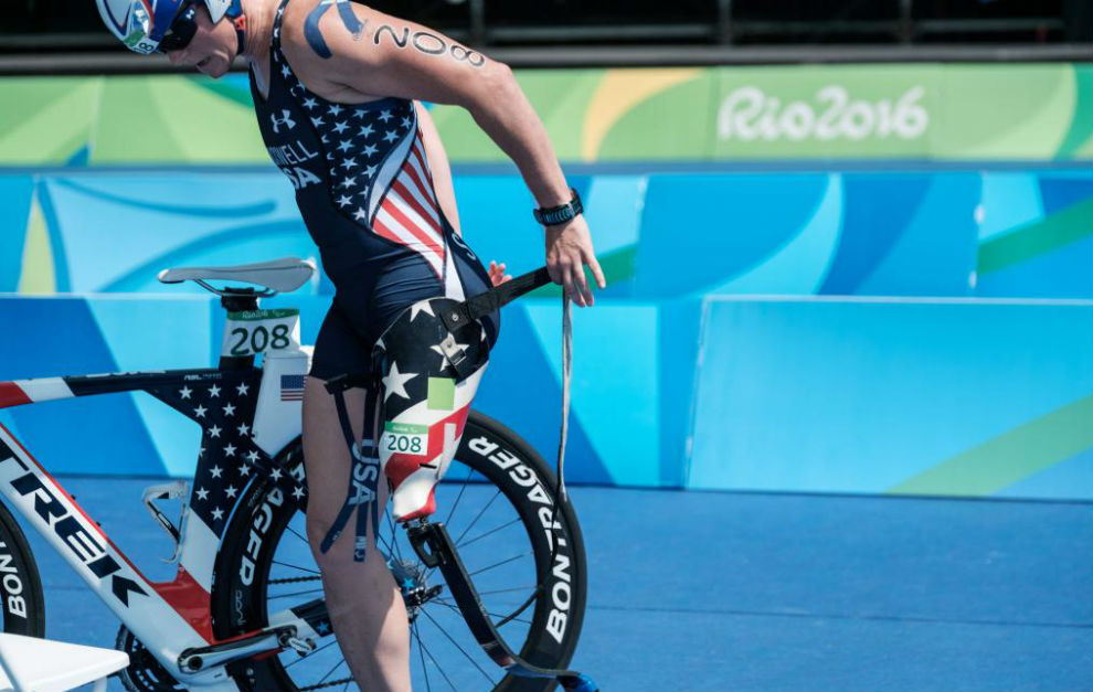 Melissa Stockwell durante la competición en los Juegos de Río.