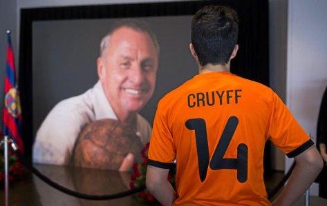 Imagen del funeral de Johan Cruyff en el Camp Nou.