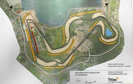 Plano del circuito de Indonesia